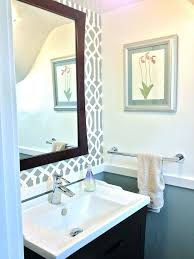 Chair Rail Ideas For Bathroom - 25 best powder room tiny silver gem images on pinterest