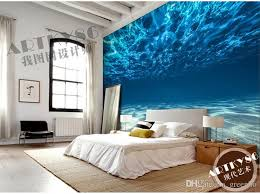 Kid Proof Interior Paint Charming Deep Sea Photo Wallpaper Custom Ocean Scenery Wallpaper