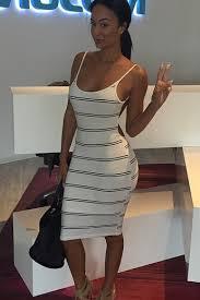 tight dress stripe backless tight dress womenpop