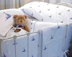 sweet william by the sea sailboats crib bedding featured at