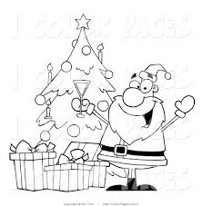 royalty free christmas tree stock coloring page designs