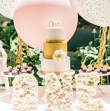 chic baby birthday party first birthday party yumminess gold