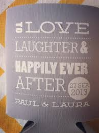 wedding koozies to laughter and happily after wedding koozies meylah