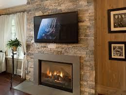 ledgestone fireplace design
