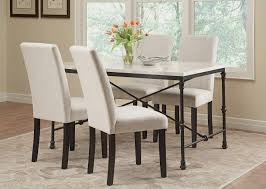 Commercial Dining Room Furniture Nagel Dining Room Set W Commercial Grade Ivory Chairs Coaster