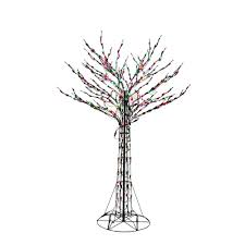 home accents holiday 6 ft orange green purple led twig tree