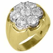 cluster rings mens 2 5 carat diamond cluster ring brilliant cut 7