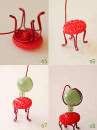 mini chairs with wire buttons diy i m not really sure