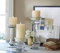 lighting cute small glass pillar candle holder design