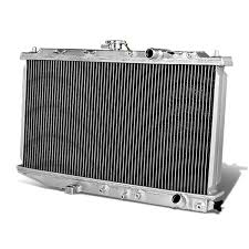 amazon com honda civic crx full aluminum 2 row racing radiator