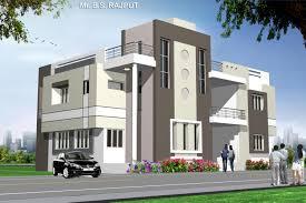 colour application to the bungalow building exterior elevation
