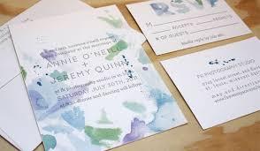 watercolor wedding invitations by printerette press invitation crush