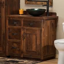 Cottage Bathroom Vanity Cabinets by Bathroom Rustic Bathroom Cabinet Design With Weathered Wood