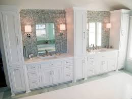 Bathrooms With Double Vanities Double Vanity Linen Towers Houzz