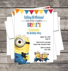 minions birthday party invitation customized despicable me