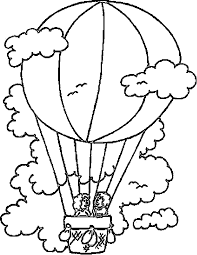 air balloon coloring pages flying coloringstar