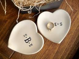 engagement ring dish monogram ring dish engagement ring holder custom ceramic