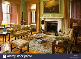 ireland co donegal glenveagh castle drawing room interior stock