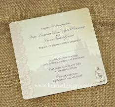 Beauty And The Beast Wedding Invitations Flat Wedding Invites
