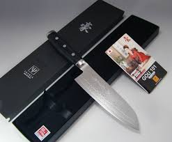 yaxell gou 101 layers sg2 damascus santoku knife 165mm from japan