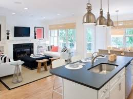 Top Kitchen And Living Room Combined Designs  My Home Design - Kitchen and family room
