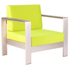cosmopolitan patio armchair brushed aluminum teak green dcg