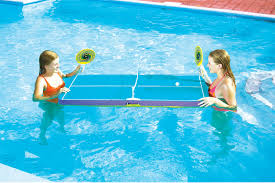 floating table for pool swimline 9164 swimming pool floating ping pong table tennis game for