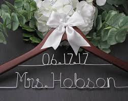 bride and groom hangers for wedding personalized hanger with