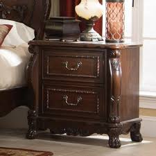 cherry finish nightstand wayfair
