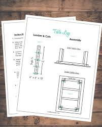 farmhouse table free plans craft remedy