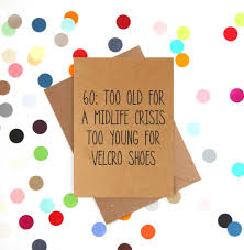 60 Birthday Cards Velcro Shoes Funny 60th Birthday Card By Bettie Confetti