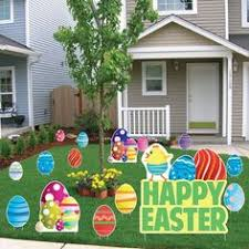 Easter Yard Blow Up Decorations by Outdoor Easter Bunny Egg Inflatable Lighted Airblown Yard Art Lawn