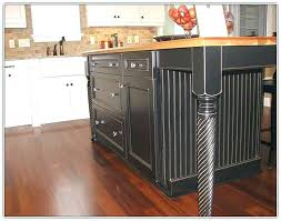 black distressed oak kitchen island with butcher block top drop