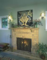 fireplace gallery mission tile west