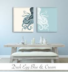 contrasting octopus prints set of two prints by fabfunky home