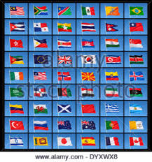 a collection of national flags from countries around the world