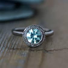 zircon engagement rings light blue aqua zircon ring 14k white gold and zircon