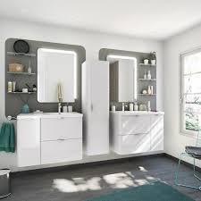 fabriquer meuble salle de bain beton cellulaire meuble de salle de bains de 80 à 99 blanc beige naturels neo
