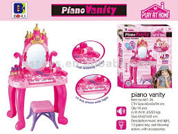 Girls Play Vanity Set Play At Home Selling Plastic Piano Vanity Dresser Toy With