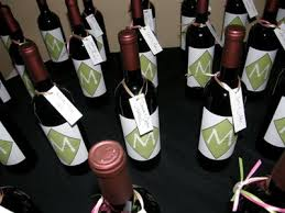 wine bottle favors wedding favors hudson valley ceremonies