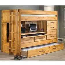 Bunk Bed With Desk And Drawers Bunkhouse Rodeo Loft Bed With Desk Drawers And Trundle Bed