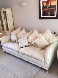 Pre Owned Chesterfield Sofa by Large Cream Fabric Sofa From Dfs Very Little Usage High
