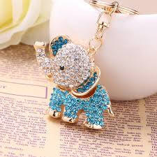 asian crystal ring holder images Chaveiro fashion crystal elephant car keychain alloy key chain jpg