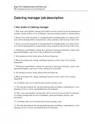 Cook Job Description Resume by Amazing Catering Job Description Resume Resume Format Web