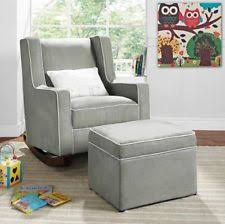 Rocking Chair And Ottoman For Nursery Nursery Rockers Gliders Ebay