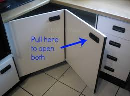 Corner Cabinet Doors Create Easy Access To The Kitchen Corner Cabinets Hometalk