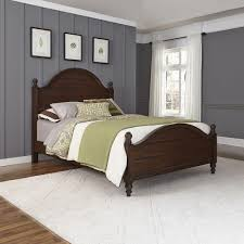 home styles county comfort aged bourbon queen bed frame 5522 500