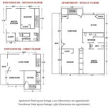 clifton park apartments and townhouses floor plans and rates