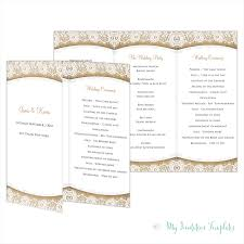folded wedding program template rustic wedding program template burlap lace