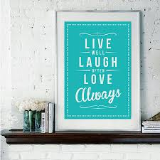 live laugh love u0027 fine art retro print by rock the custard